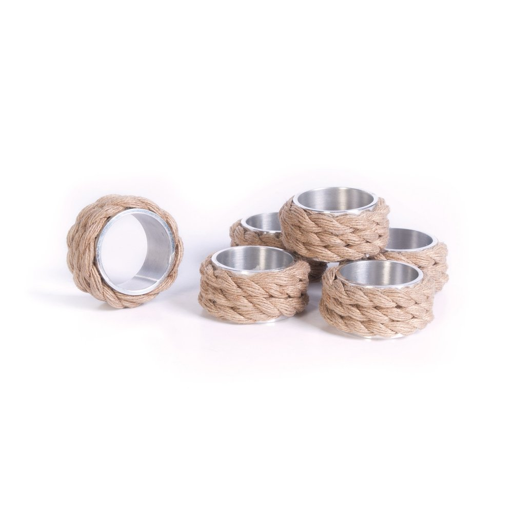 Go Home - Coastal Napkin Rings, Set/6