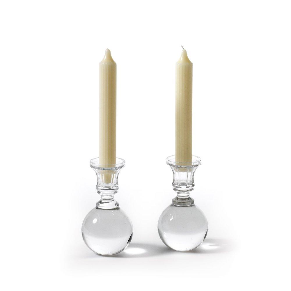 Go Home - Ball Candlesticks, Pair