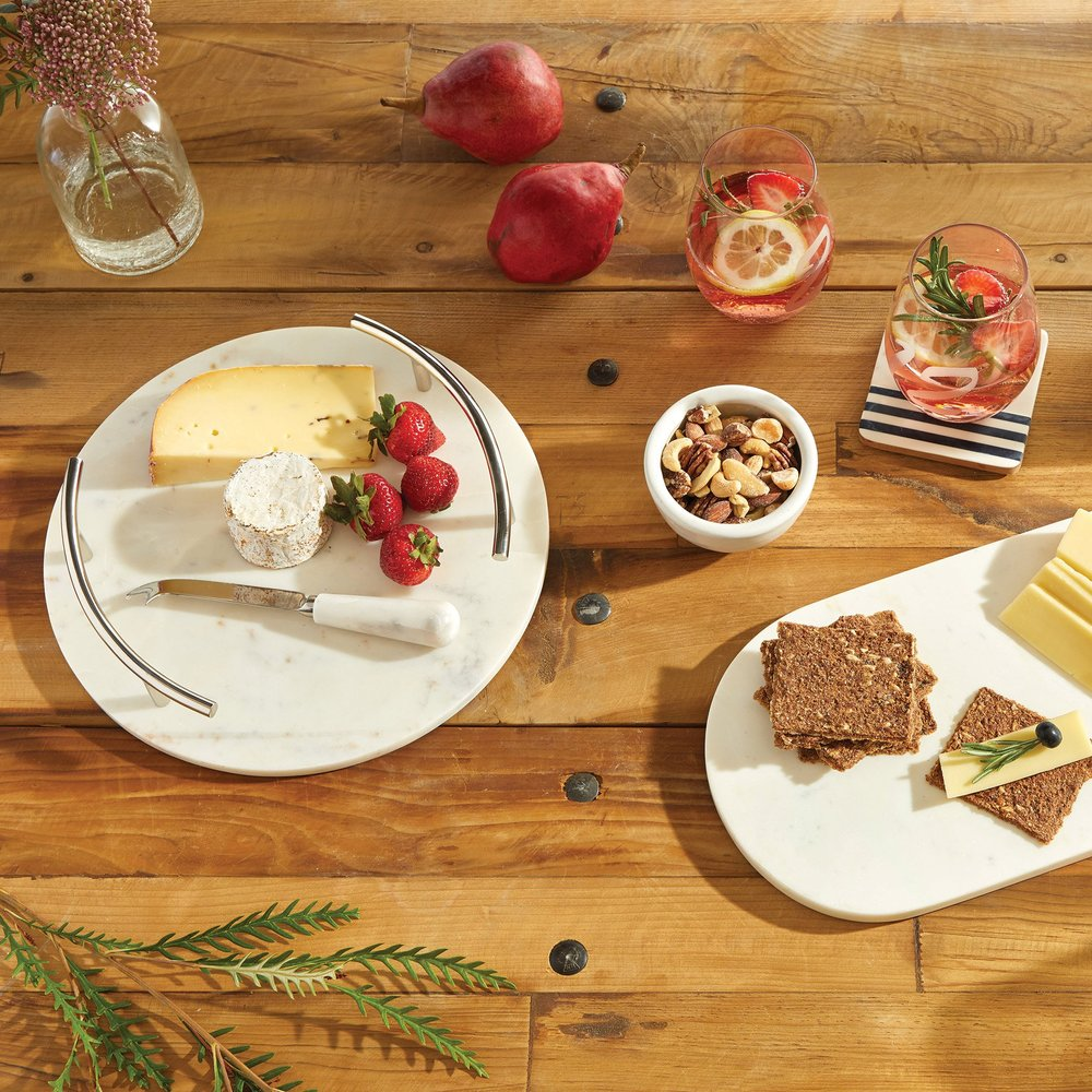 Go Home - Round Cheeseboard with Knife