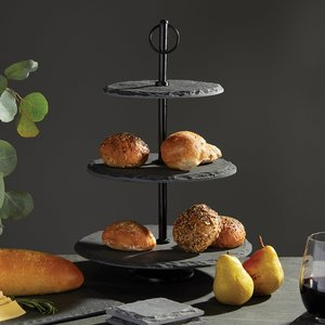 Thumbnail of Go Home - Round Slate Fruit Stand