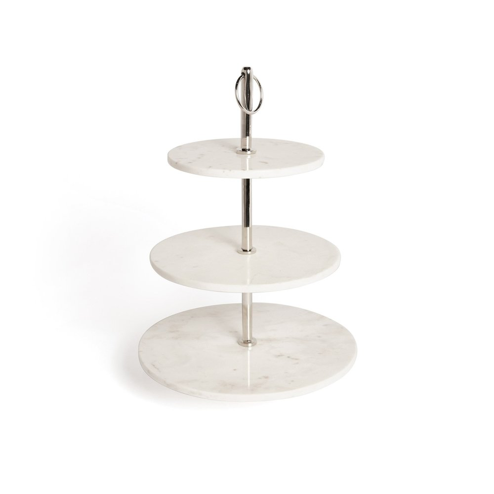 Go Home - Round Marble Fruit Stand