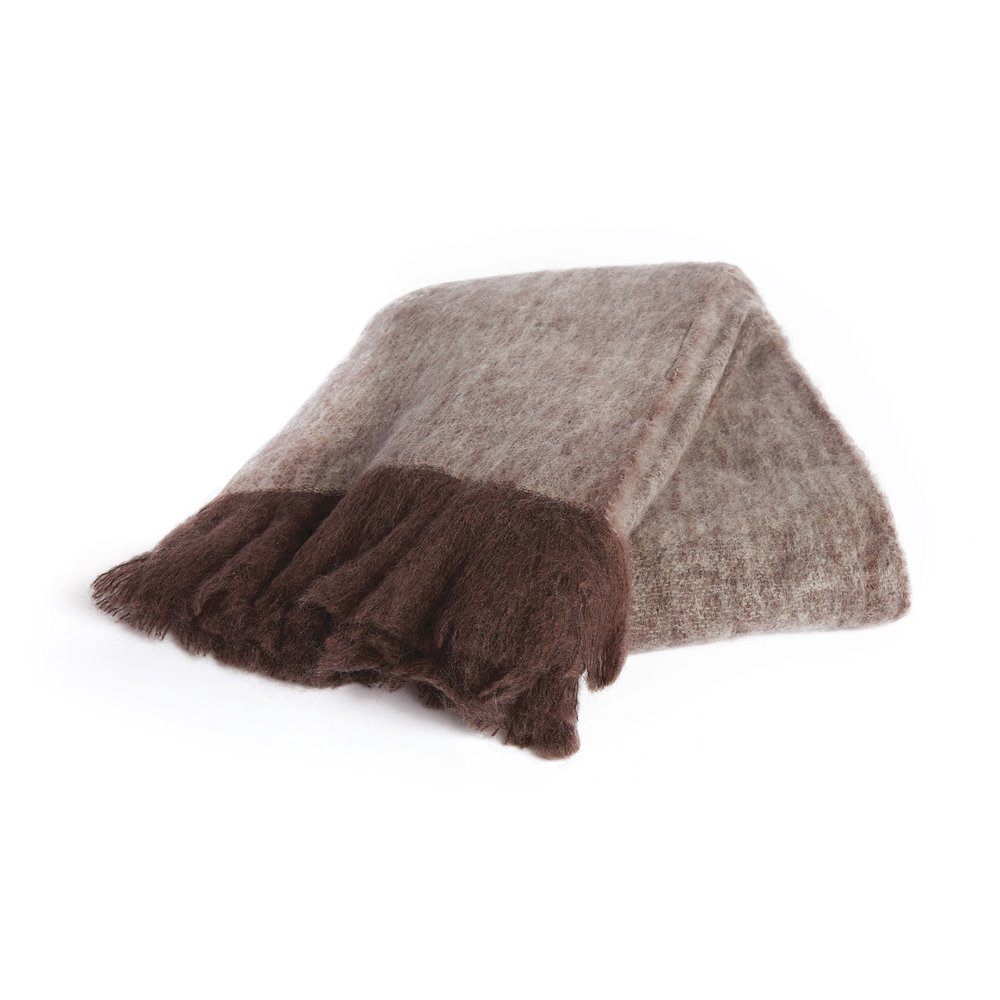 Go Home - Brown and Beige Mohair Throw