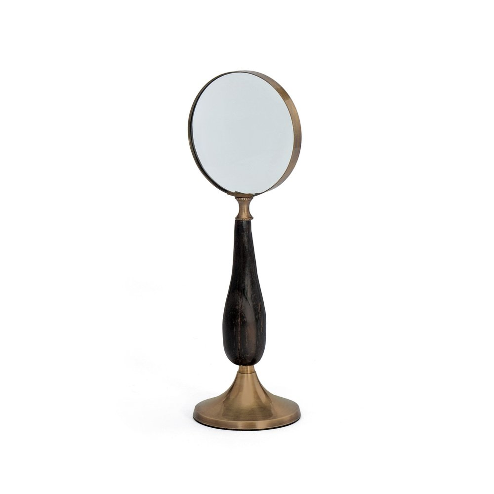 Go Home - Brass Stand Up Magnifying Glass