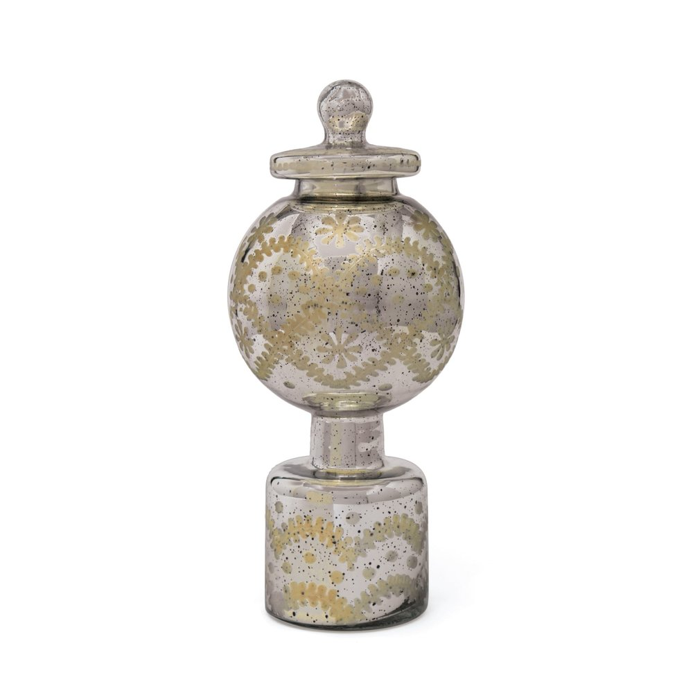 Go Home - Mary Antique Silver Jar with Lid