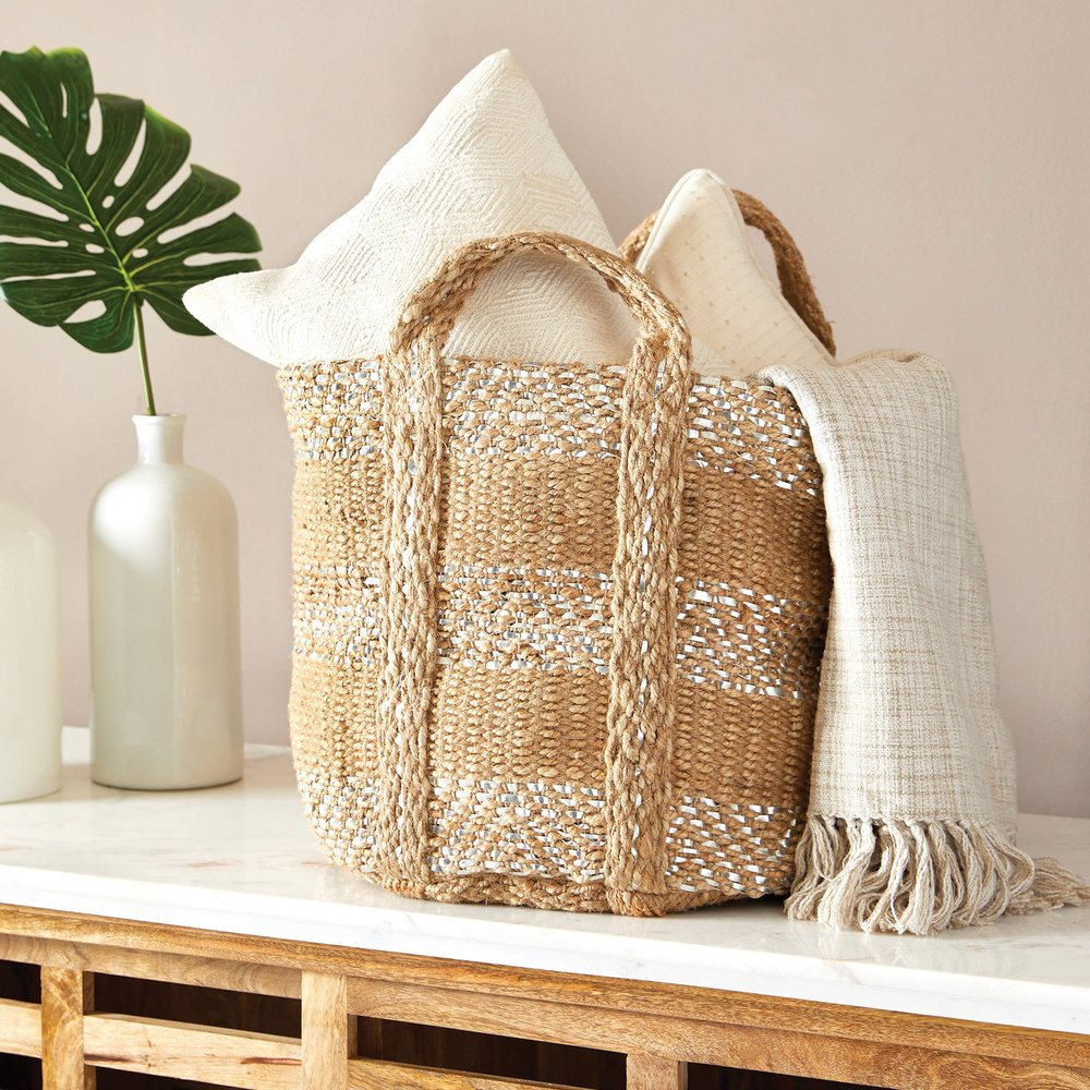 Go Home - Two Toned Jute Basket