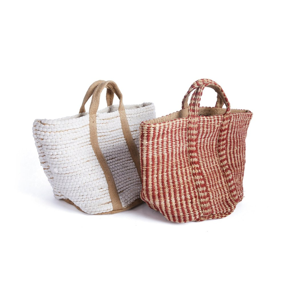 Go Home - Red and Natural Hemp Basket
