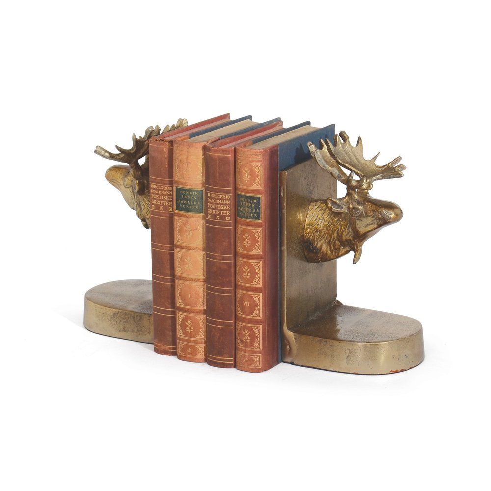 Go Home - Moose Bookends, Pair
