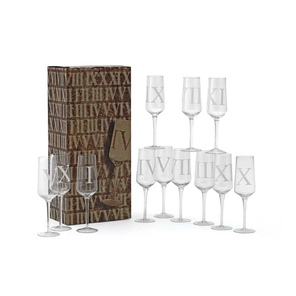 Go Home - Upton Champagne Flutes, Set/12