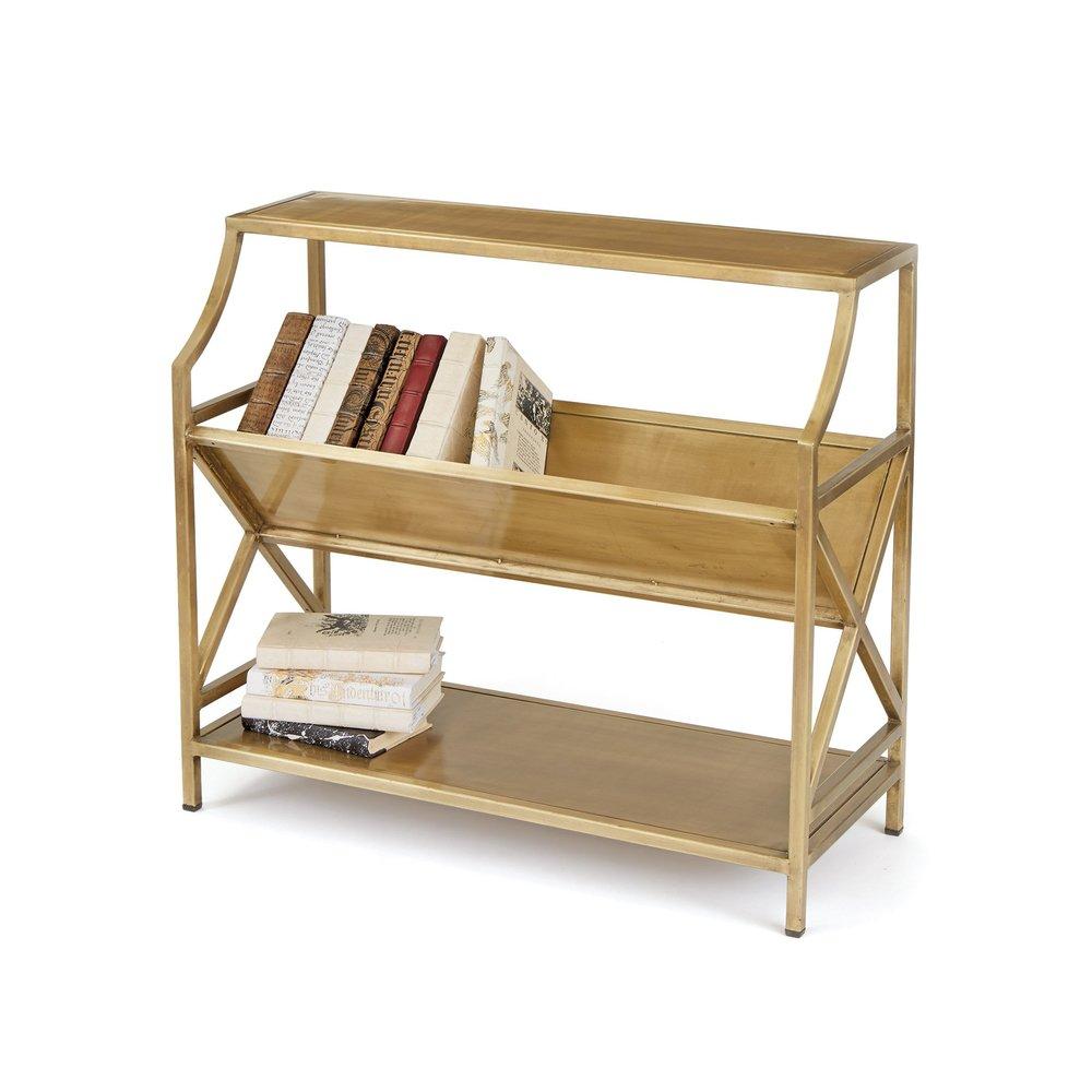 Go Home - Brass Periodical Shelf
