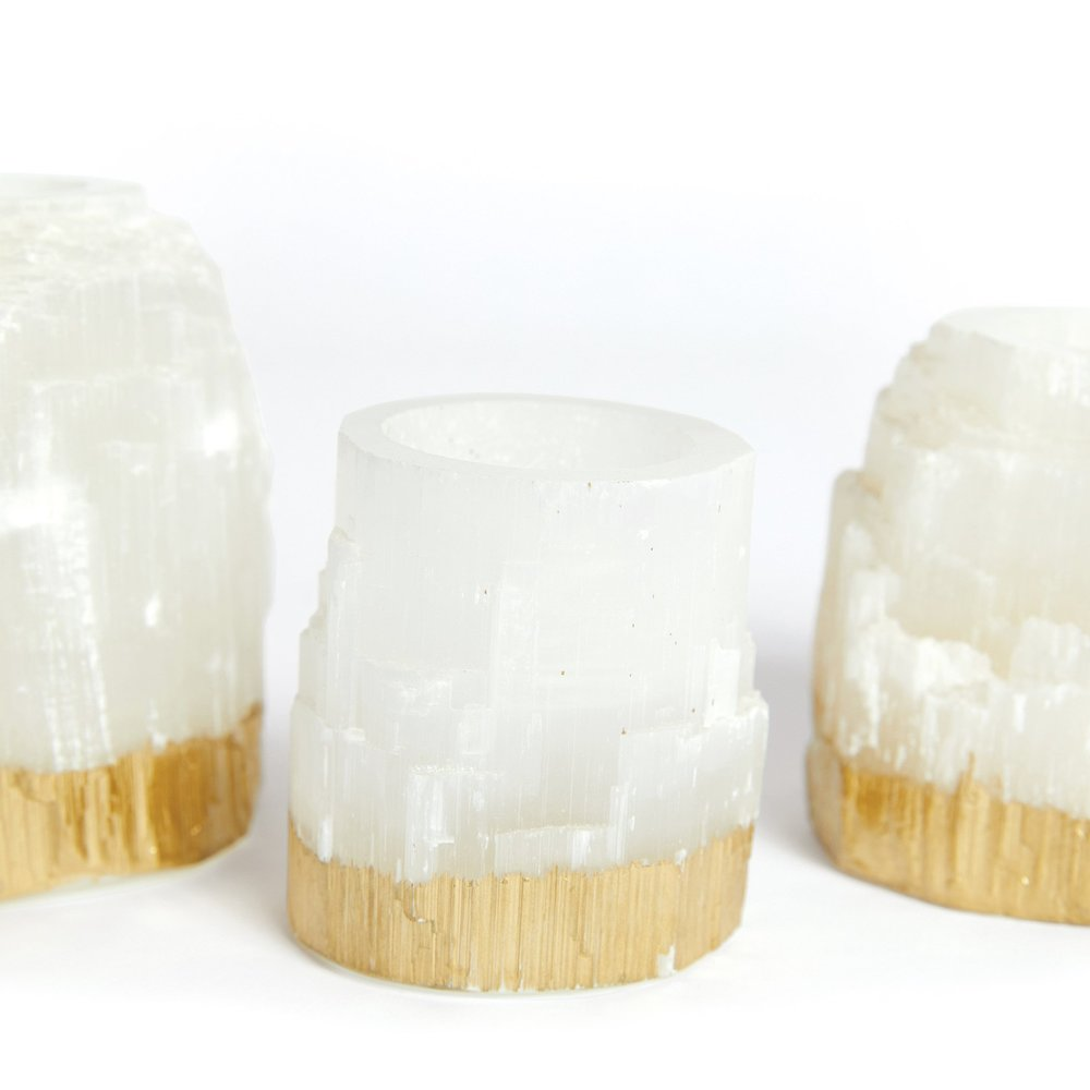 Go Home - Dorado Rock Crystal Votives, Set/3