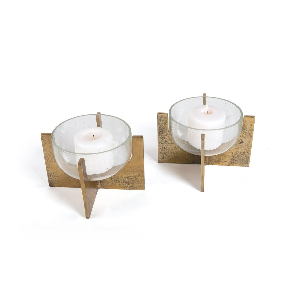 Go Home - Paladin Candle Holders, Pair