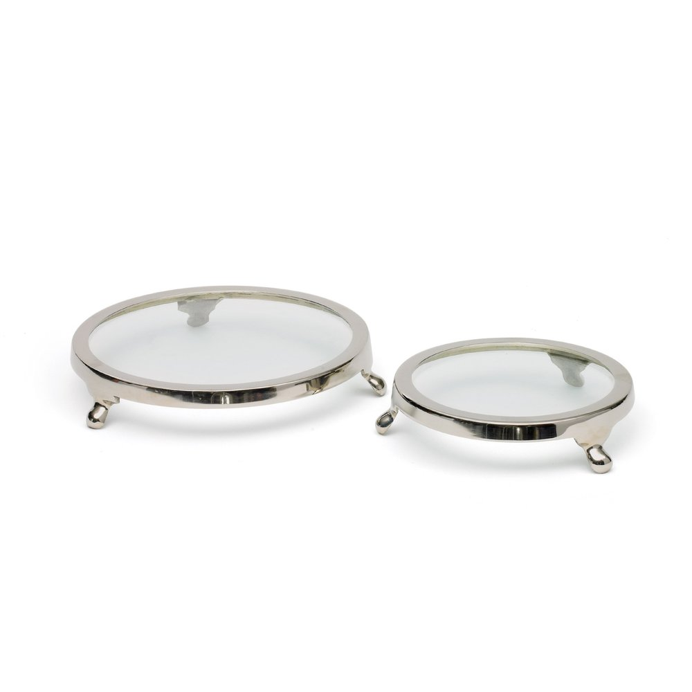 Go Home - Set of Two Round Cake Stands