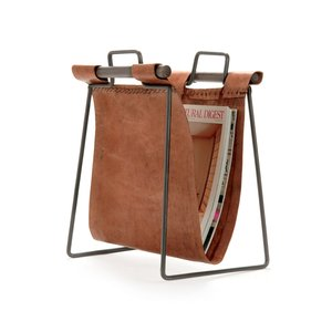 Thumbnail of Go Home - Leather and Iron Sling Magazine Stand