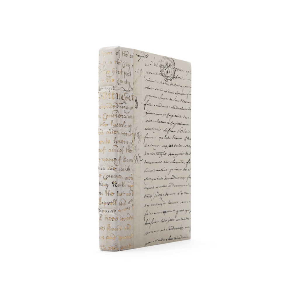 Go Home - Linear Foot of Ivory Script Gold Leaf Books