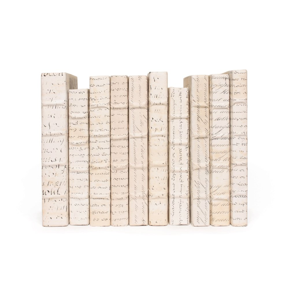 Go Home - Linear Foot of Ivory Script Books