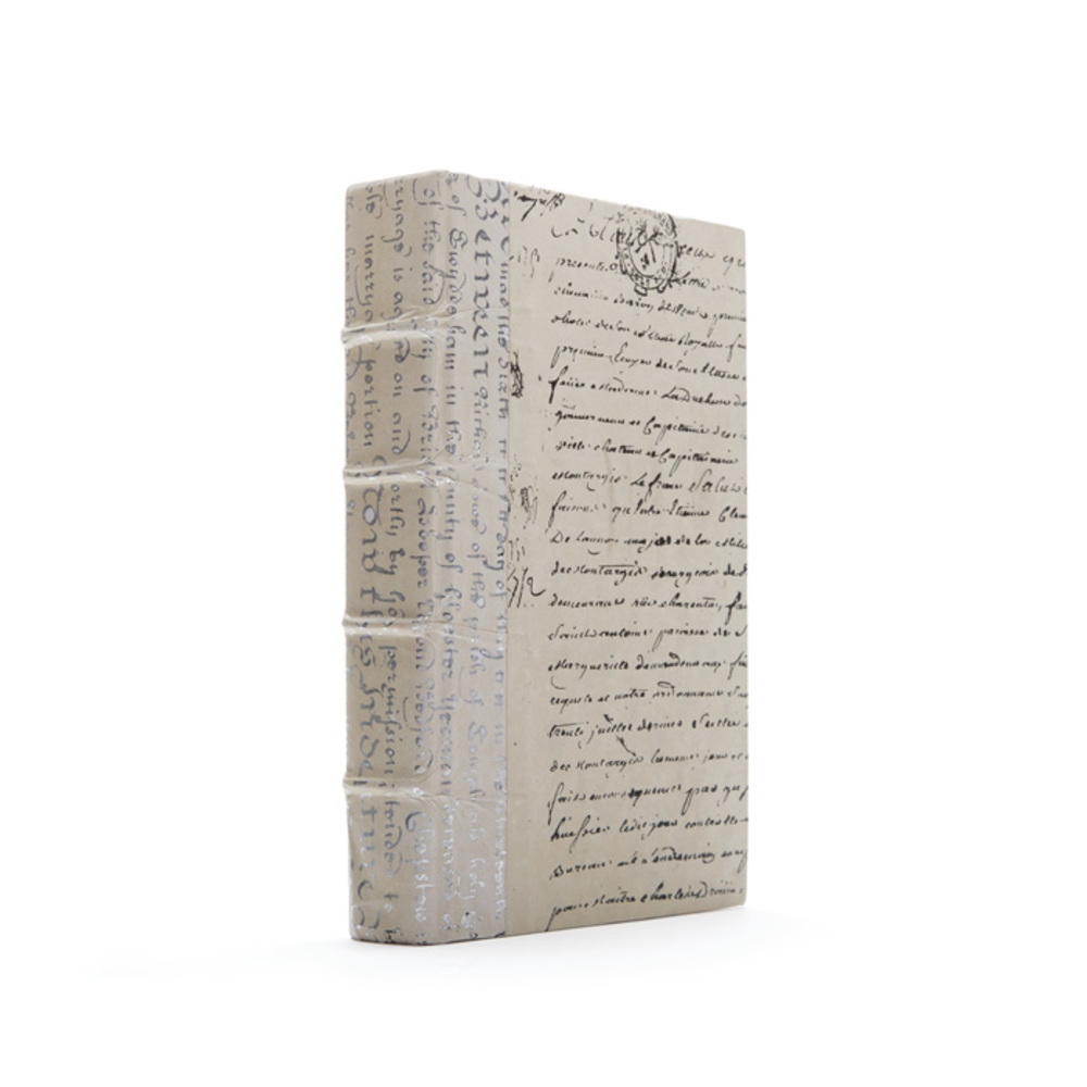 Go Home - Linear Foot of Ivory Script Silver Leaf Books