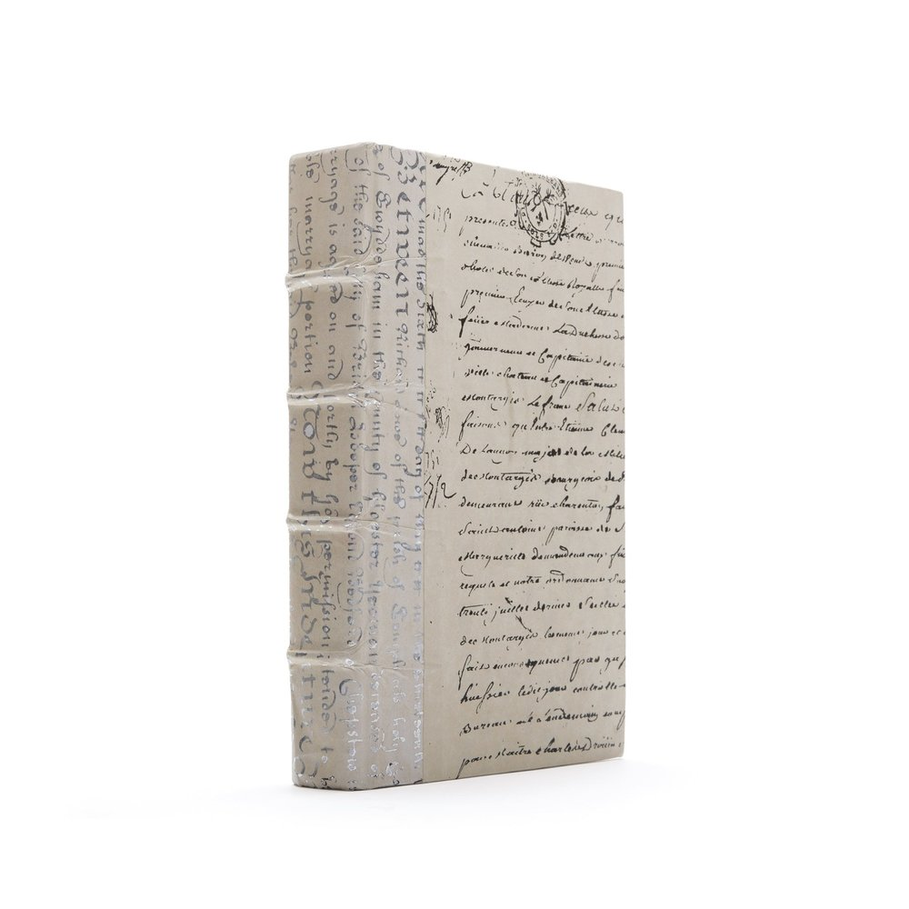 Go Home - Single Ivory Script Silver Leaf Book