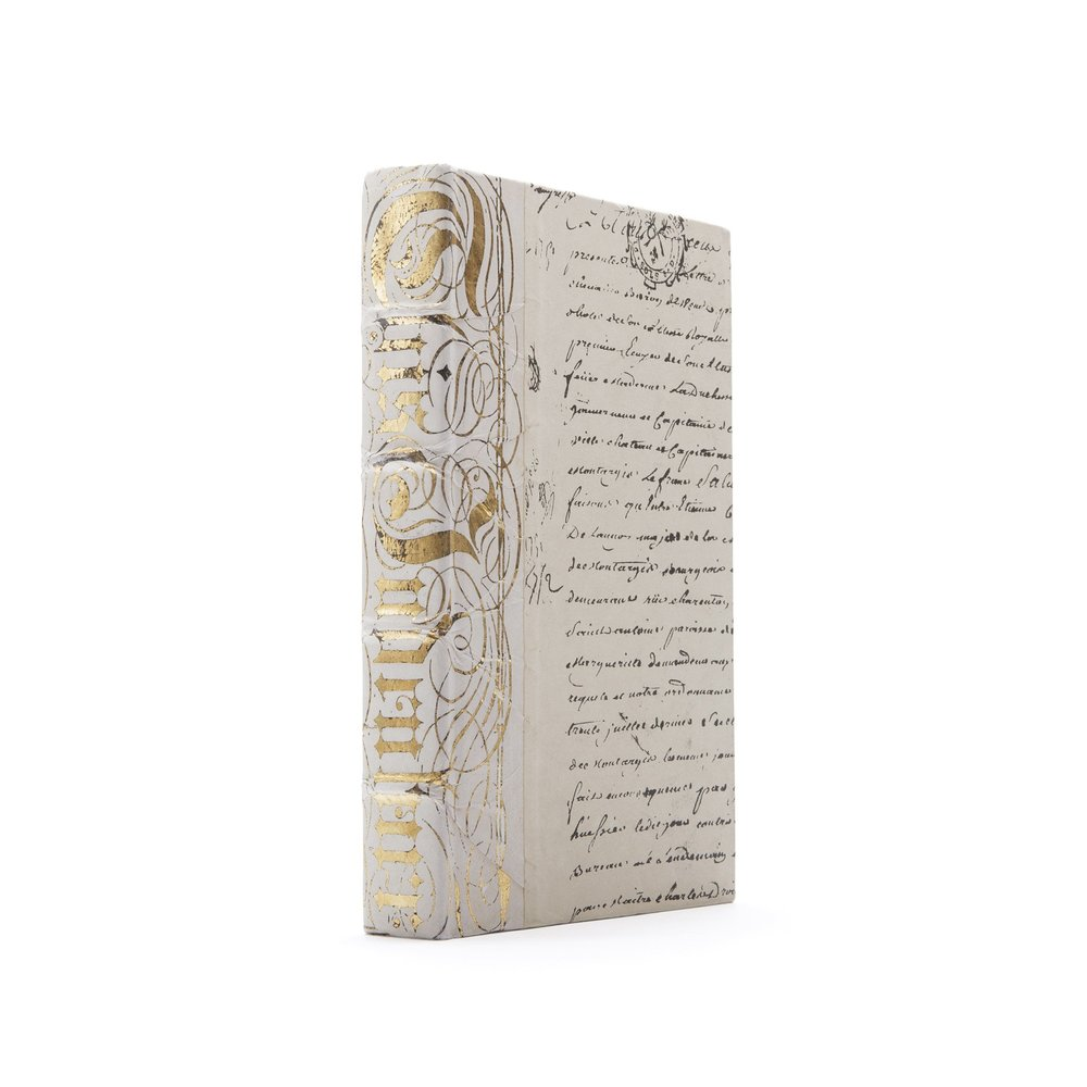 Go Home - Single Ivory Bold Gold Leaf Book