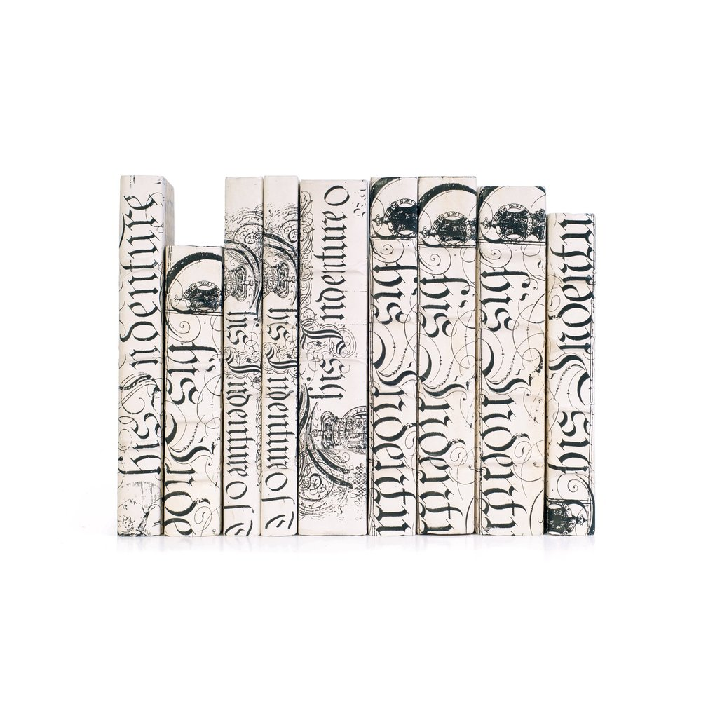 Go Home - Linear Foot of Ivory Bold Spenserian Books