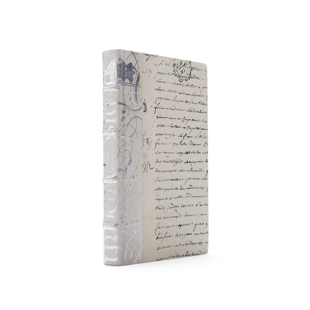 Go Home - Single Ivory Bold Silver Leaf Book