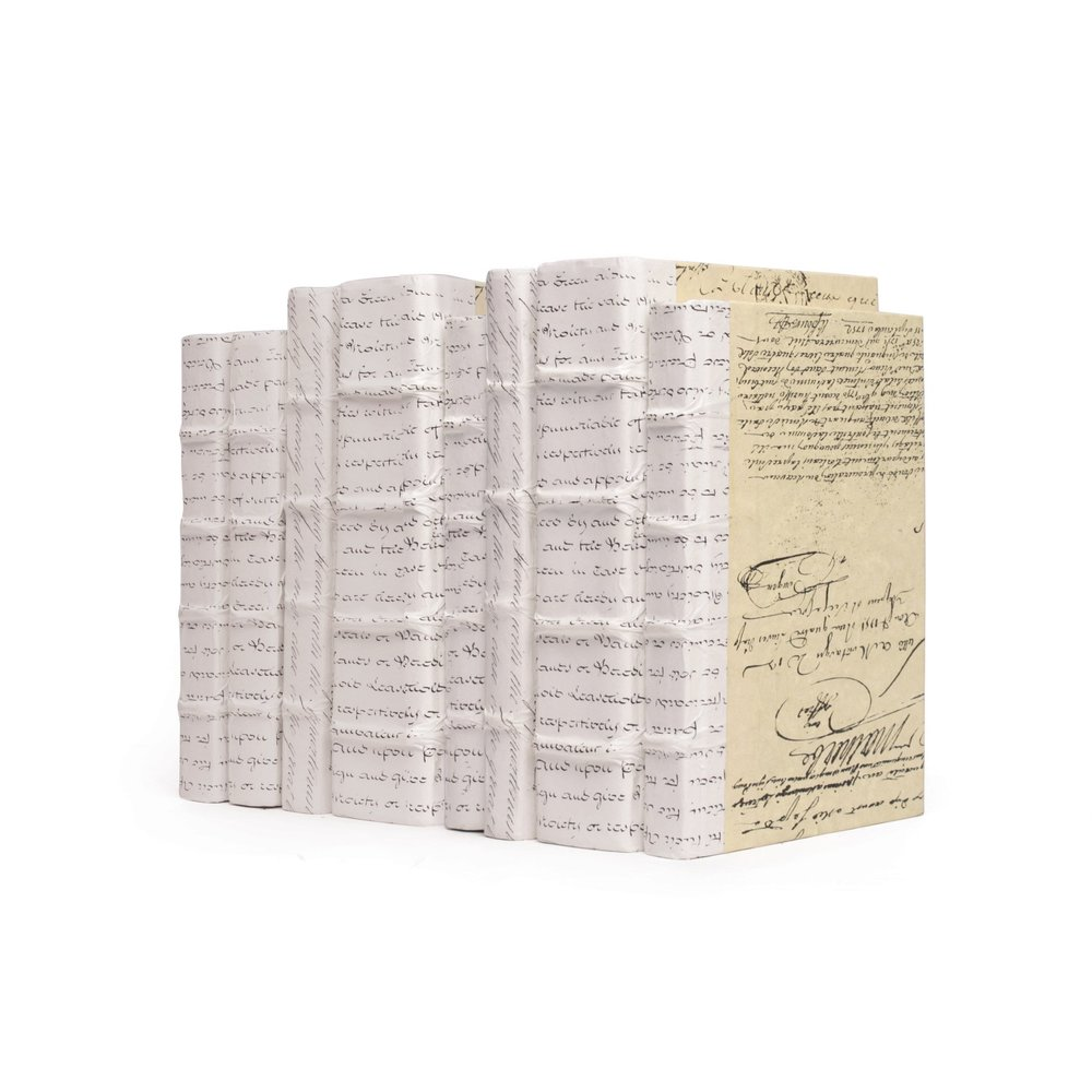 Go Home - Linear Foot of White Script Books