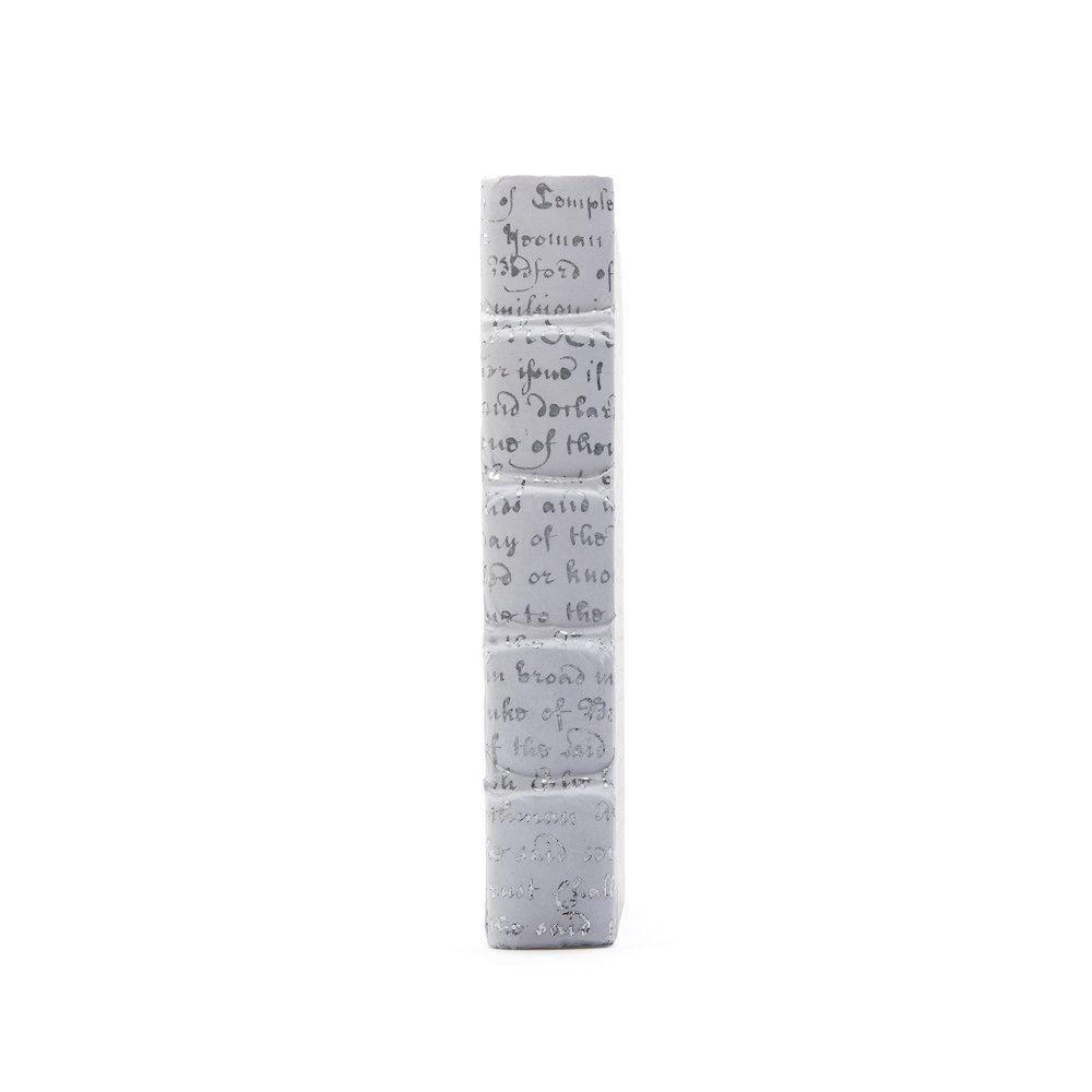 Go Home - Single White Script Silver Leaf Book