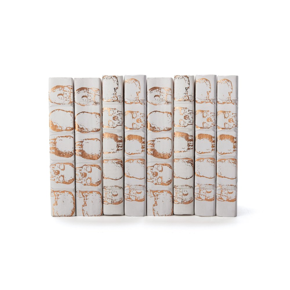 Go Home - Linear Foot of Skulls White Copper Leaf Books