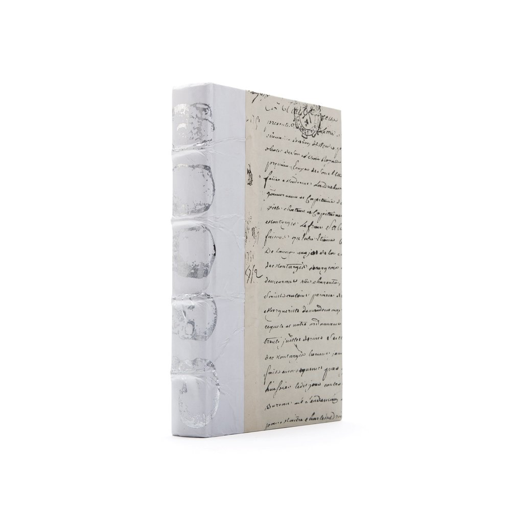 Go Home - Single White Skull Silver Leaf Book