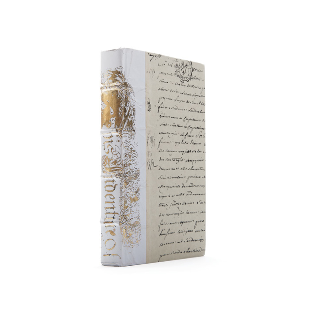 Go Home - Linear Foot of White Bold Gold Leaf Books