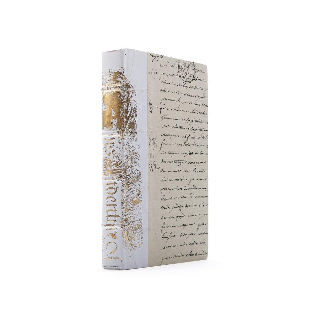 Go Home - Single White Bold Gold Leaf Book