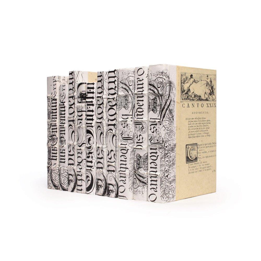 Go Home - Linear Foot of White Bold Spenserian Books