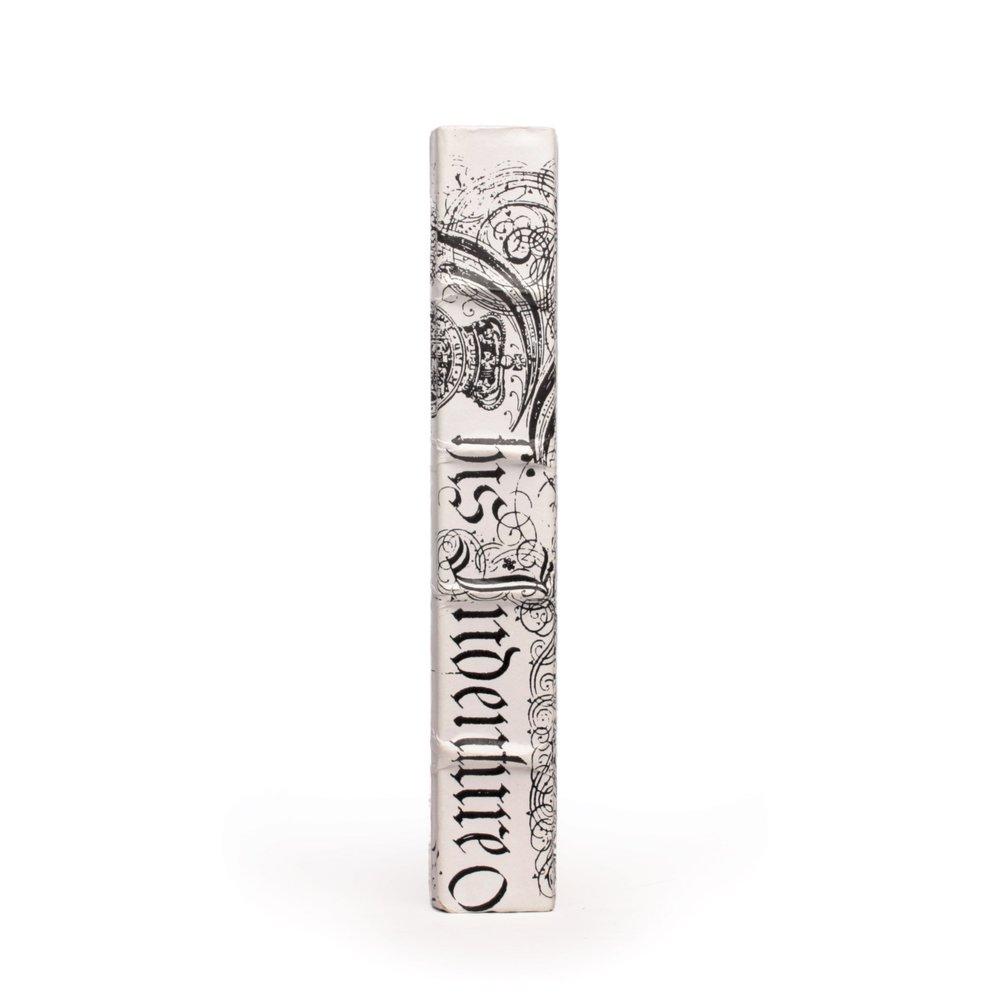 Go Home - Single White Bold Spenserian Book