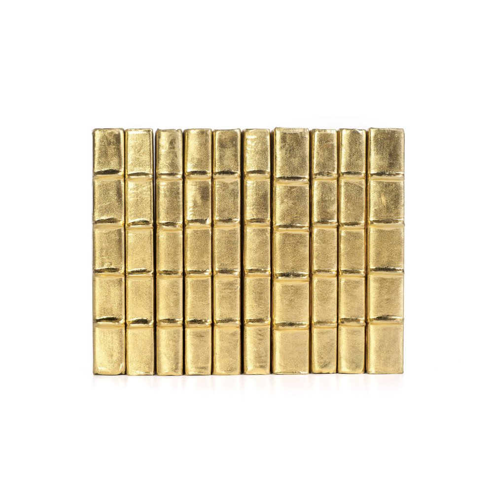 Go Home - Linear Foot of Metallic Gold Books