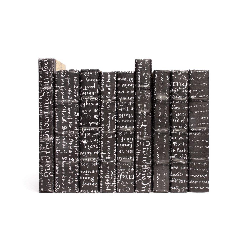 Go Home - Linear Foot of Black Script Books