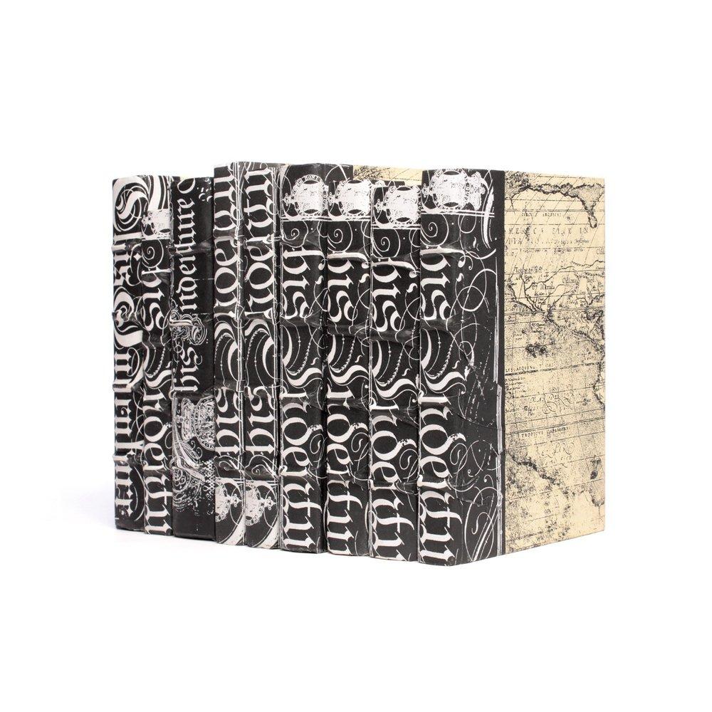 Go Home - Linear Foot of Black Bold Spenserian Books