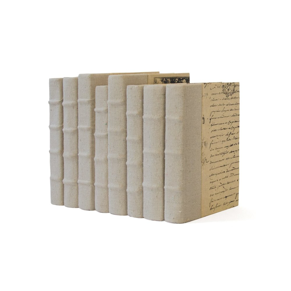 Go Home - Linear Foot of Recycled Canvas Books