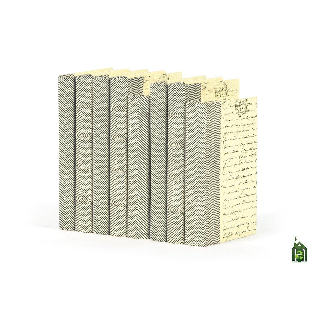 Go Home - Linear Foot of Chevron Texture Black White Books