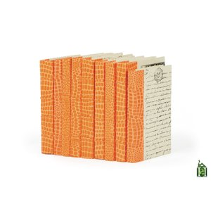 Thumbnail of Go Home - Linear Foot of Faux Croc Orange Books