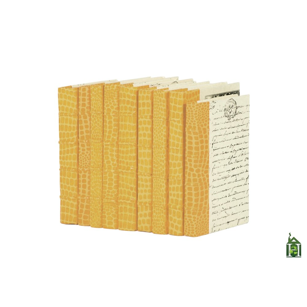 Go Home - Linear Foot of Croc Faux Natural Books