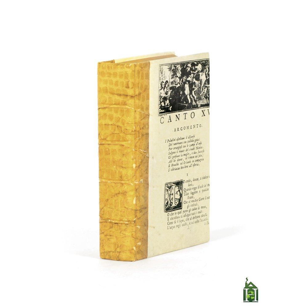 Go Home - Single Croc Faux Natural Book