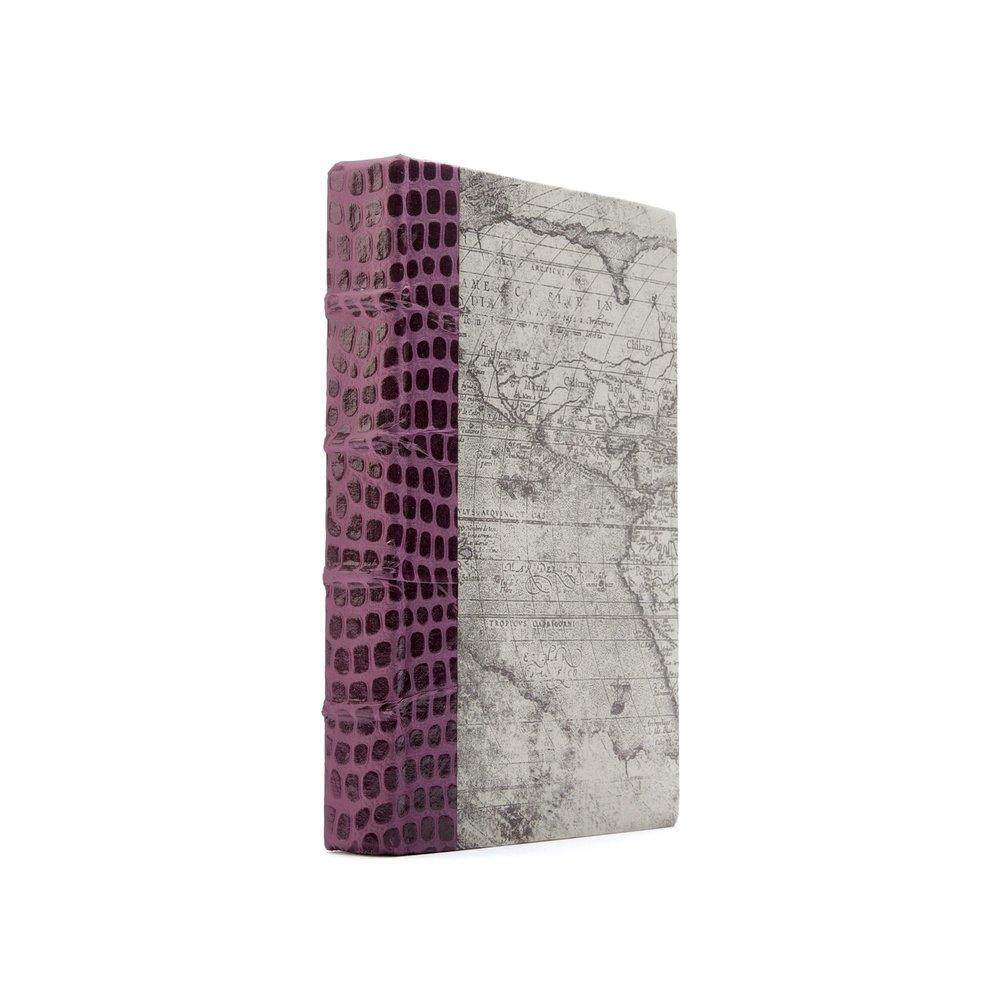 Go Home - Single Croc Faux Purple Book