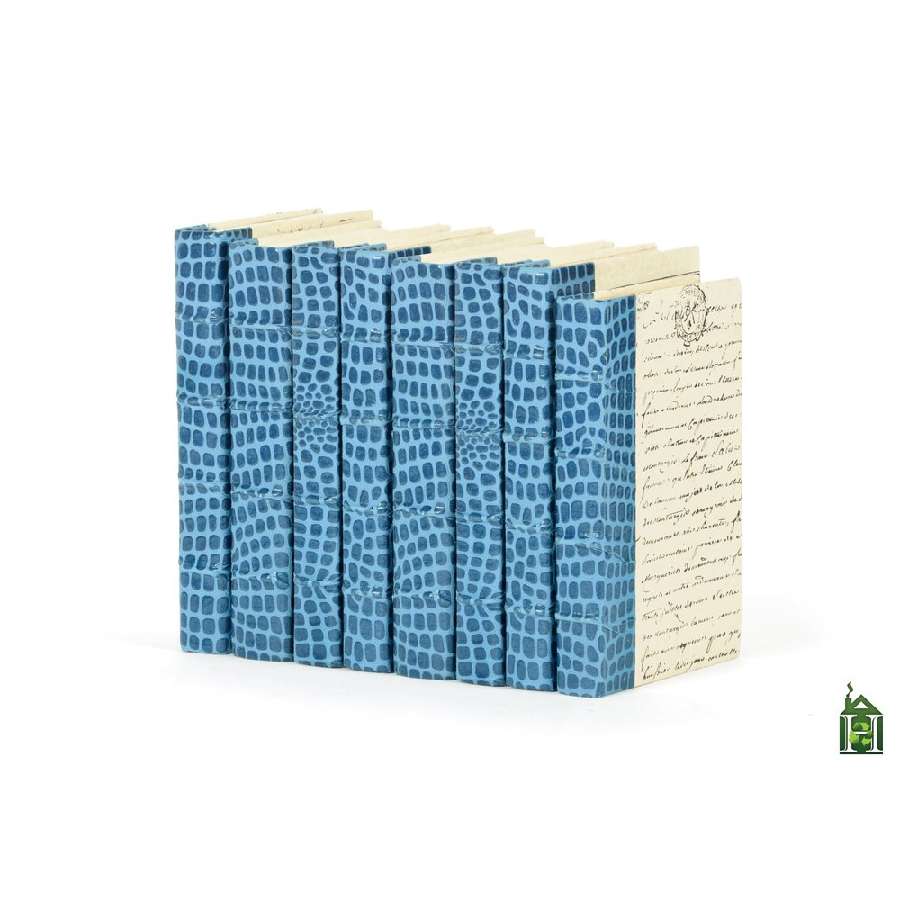 Go Home - Linear Foot of Croc Faux Blue Books