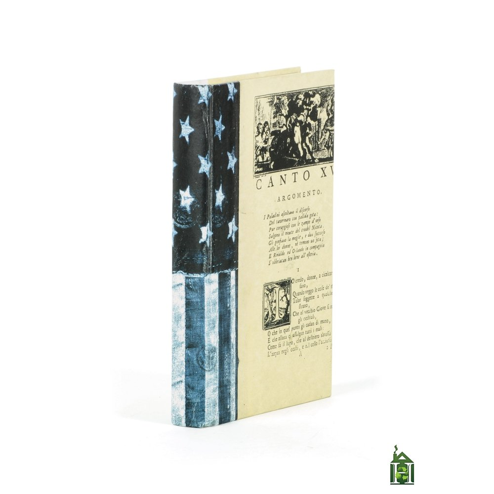 Go Home - Single US Flag Denim Vintage Book