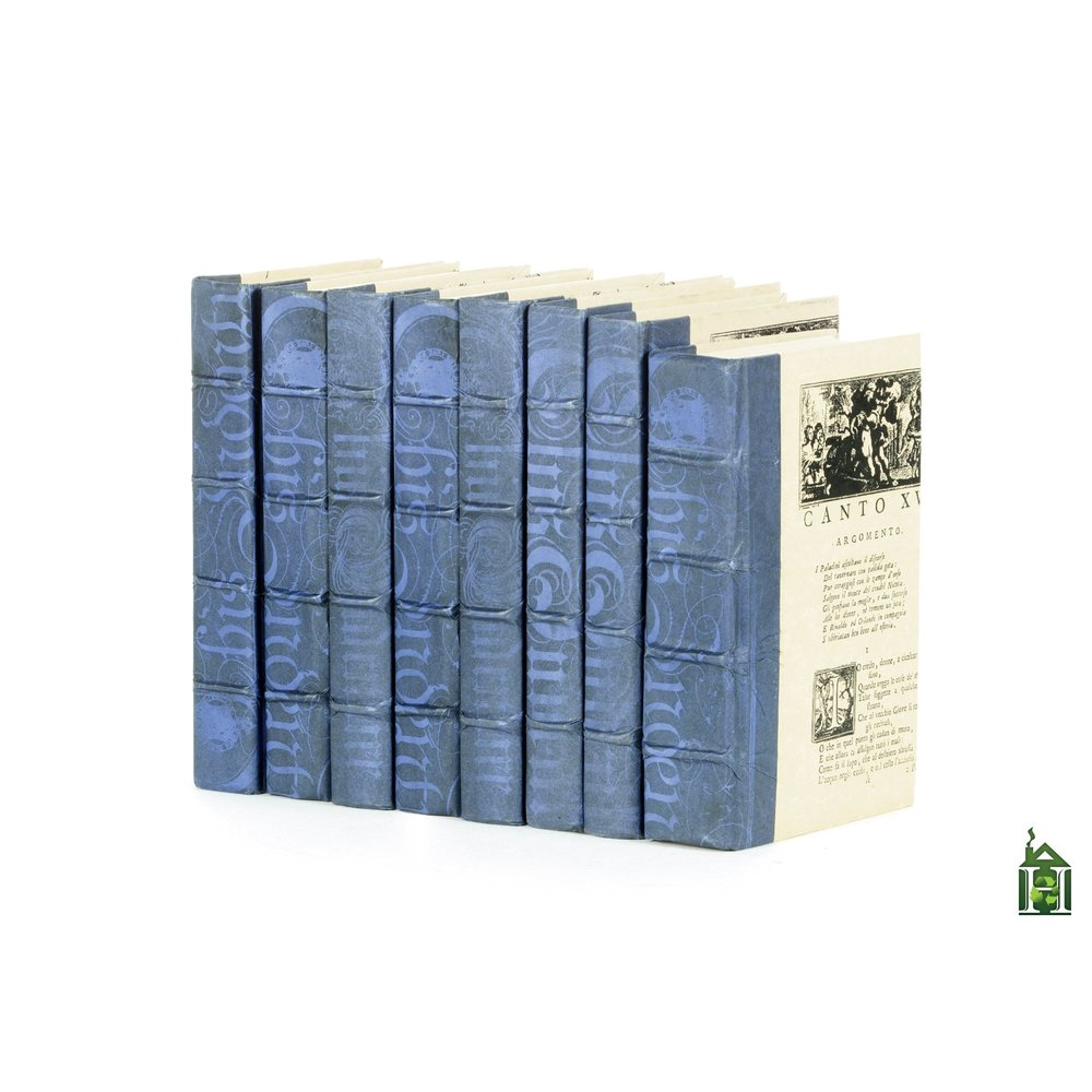 Go Home - Linear Foot of Mod Periwinkle Washed Books
