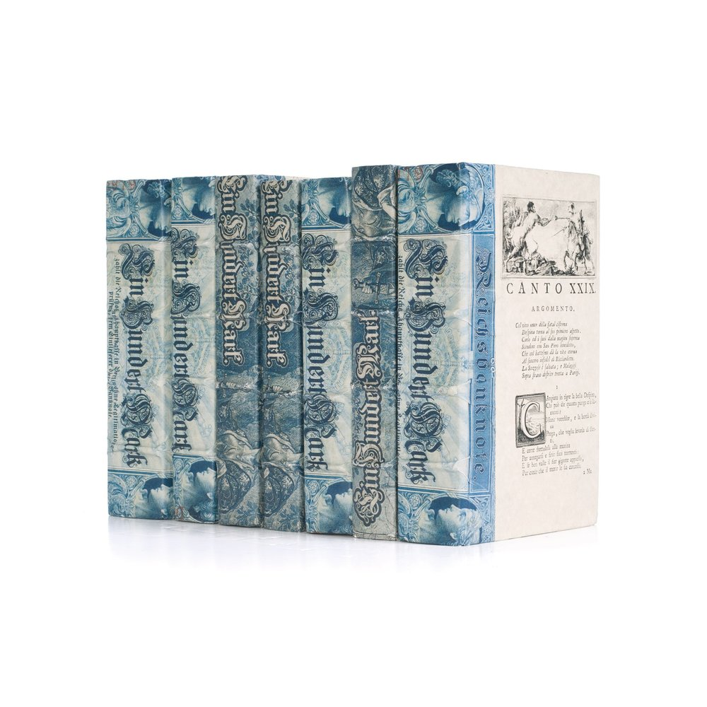 Go Home - Linear Foot of Blue European Beaux Arts Books