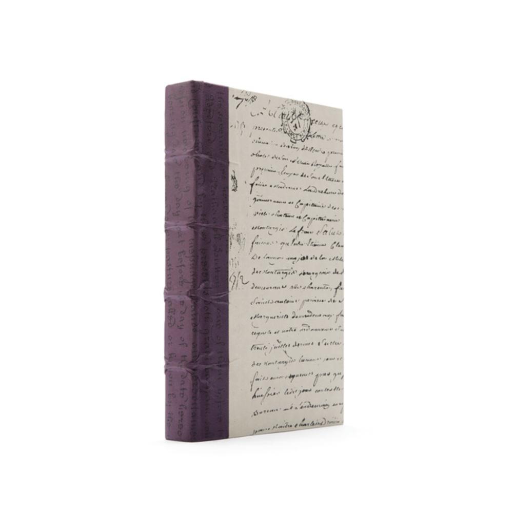 Go Home - Linear Foot of Aubergine Script Books