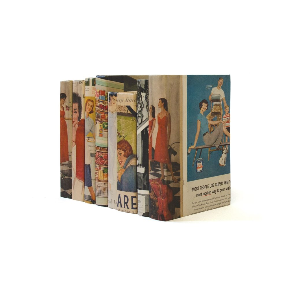 Go Home - Linear Foot of Recycled Vintage US Magazine Books