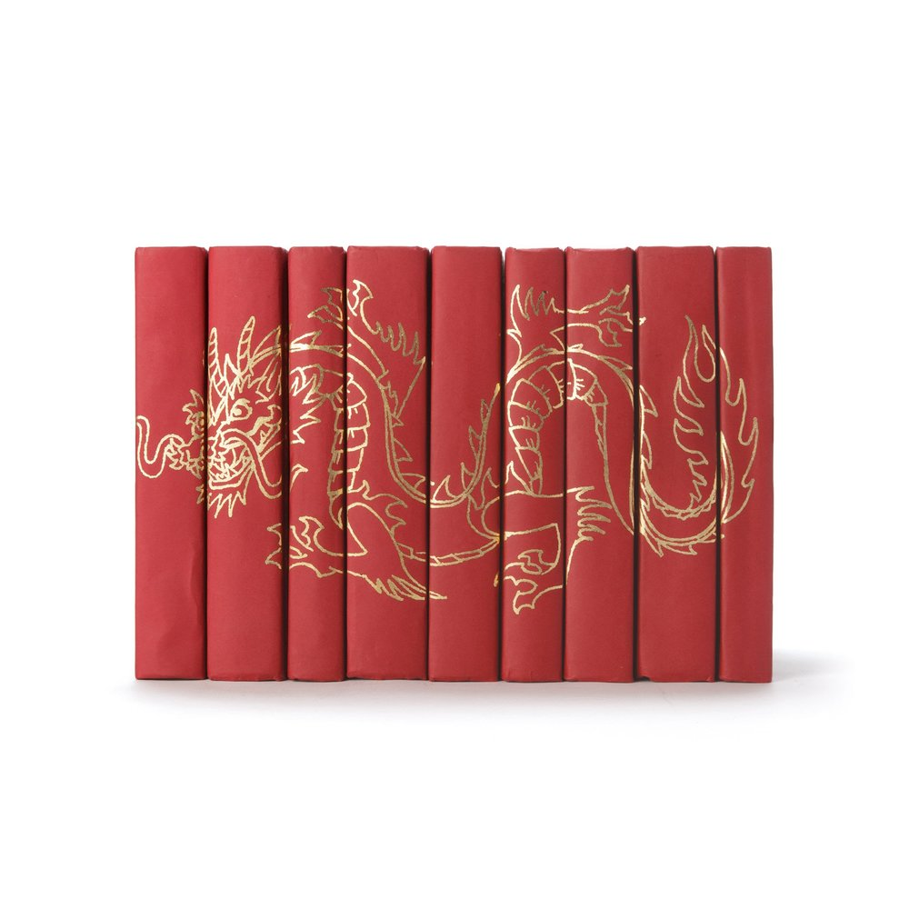 Go Home - Gold Dragon on Red Books, Set/9