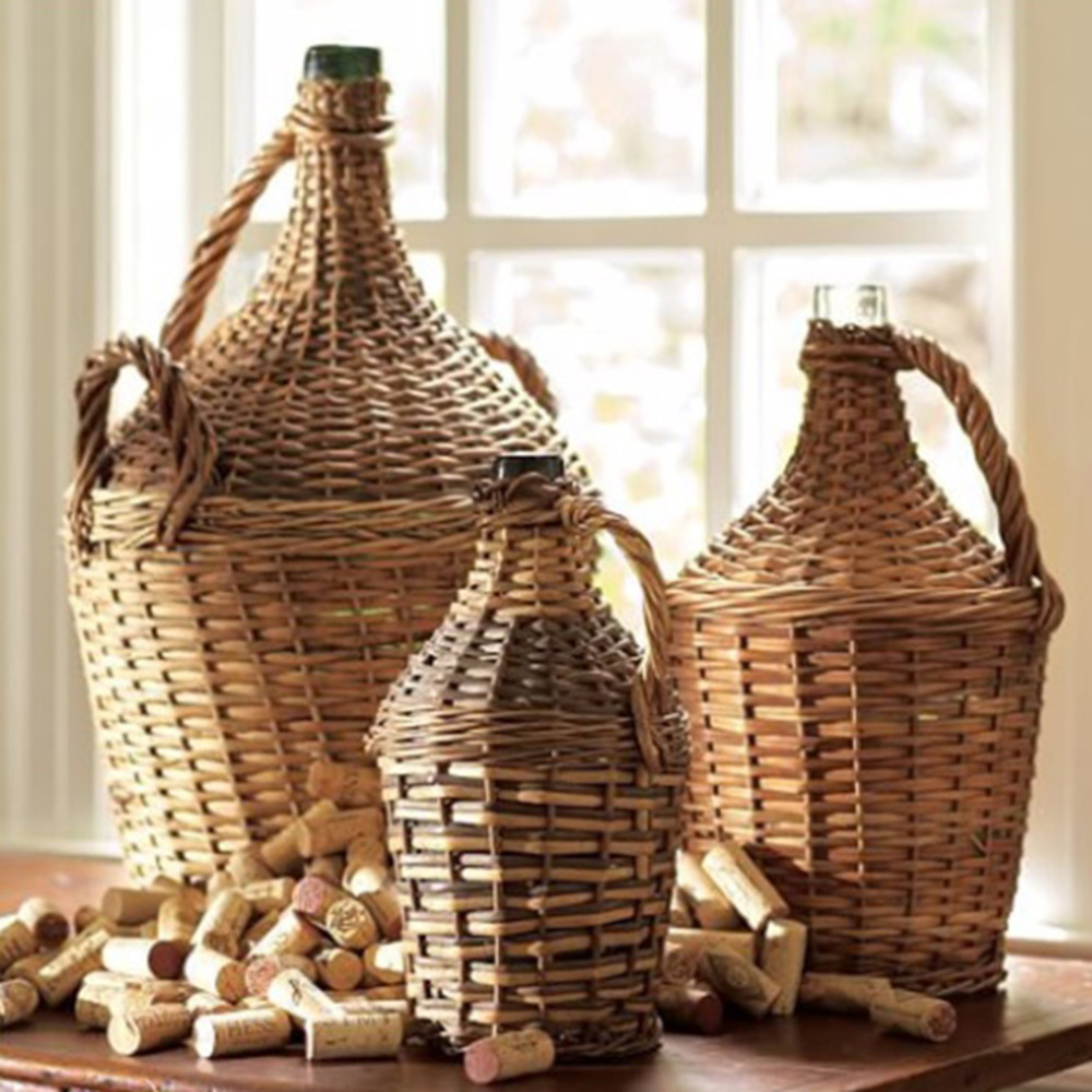 Go Home - Wicker Wrapped Demijohn, Medium