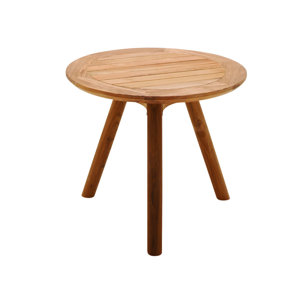 Gloster - Round Side Table w/ Teak Top